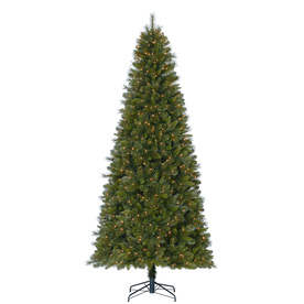 Holiday Living 9-ft Pre-Lit Robinson Fir Artificial Christmas Tree with White Clear Lights TG90M4B94S10