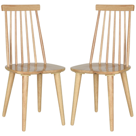 Set of 2 American Home Natural Side Chairs - Safavieh AMH8511D-SET2
