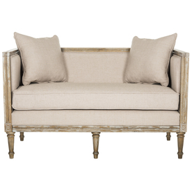 Safavieh Home Collection Leandra Rustic French Country Antique Beige Settee