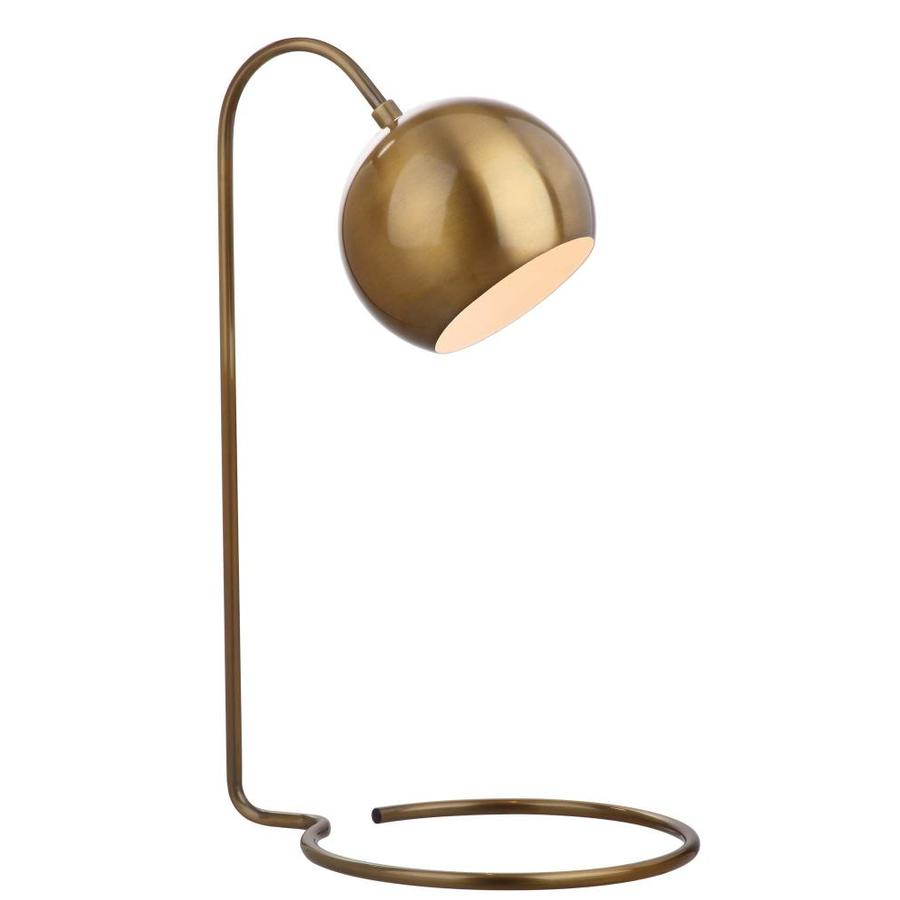 Safavieh Bartolo 22 In Brass Gold Led Downbridge Table Lamp With Metal Shade In The Table Lamps Department At Lowes Com