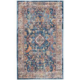 Bristol Mellila Blue/Light Gray Rectangular Indoor Machine-Made Area Rug (Common: 4 x 6; Actual: 4-ft W x 6-ft L) - Safavieh BTL361C-4