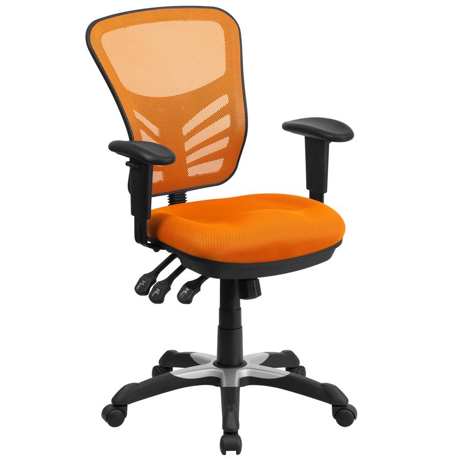 Flash Furniture Orange Contemporary Adjustable Height Swivel Executive Chair 889142003427
