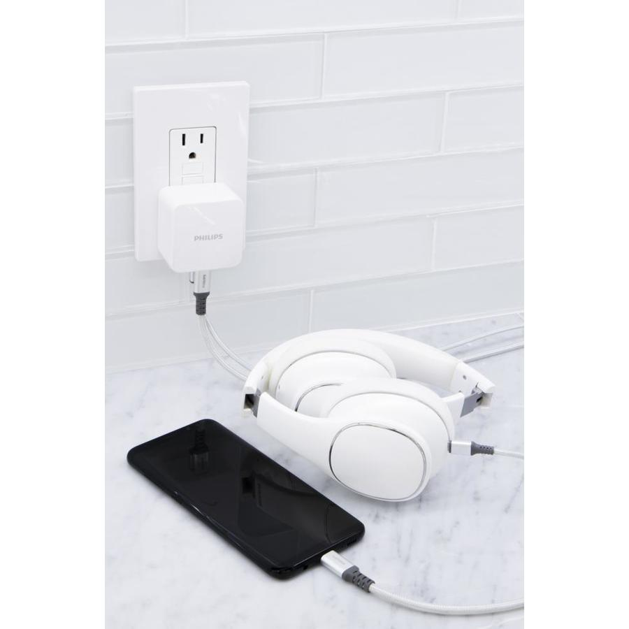 Philips Type C; USB A Wall Outlet Charger