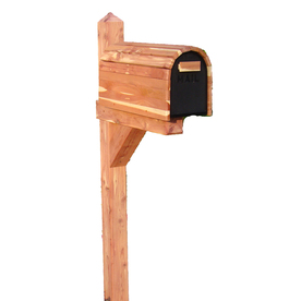 Shop Cedar Products Natural Wood Mailbox Post At Lowes Com