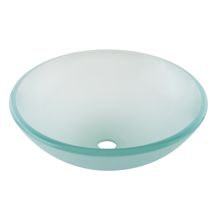 Shop Aquasource Green Glass Vessel Bathroom Sink At Lowes Com