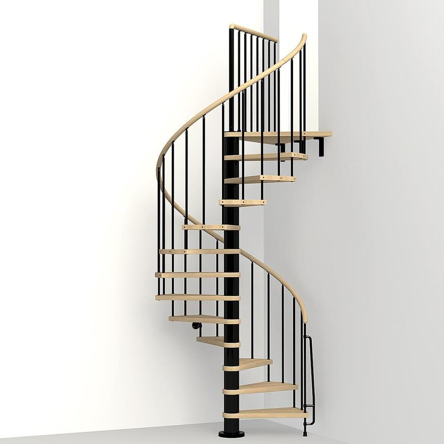 Spiral Staircase Lowes: Shop Arke 3-ft 11-in Phoenix Black Powder-Coat Finish