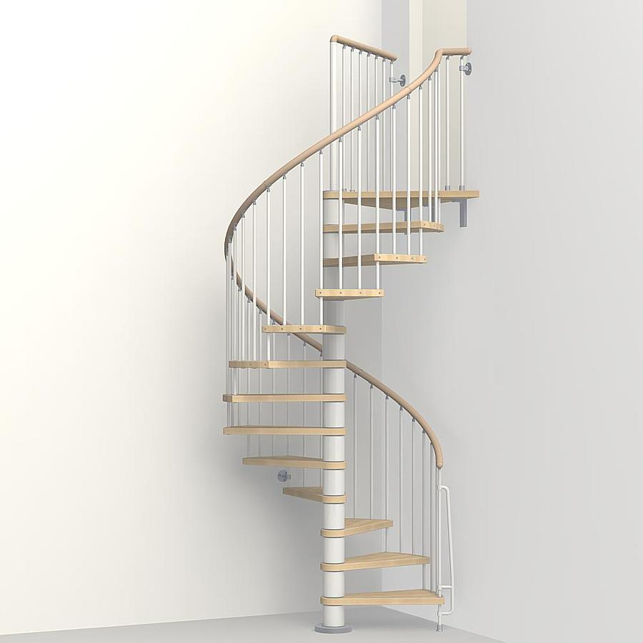Spiral Staircase Lowes: Shop Arke 4-ft 7-in Phoenix White Powder-Coat Finish