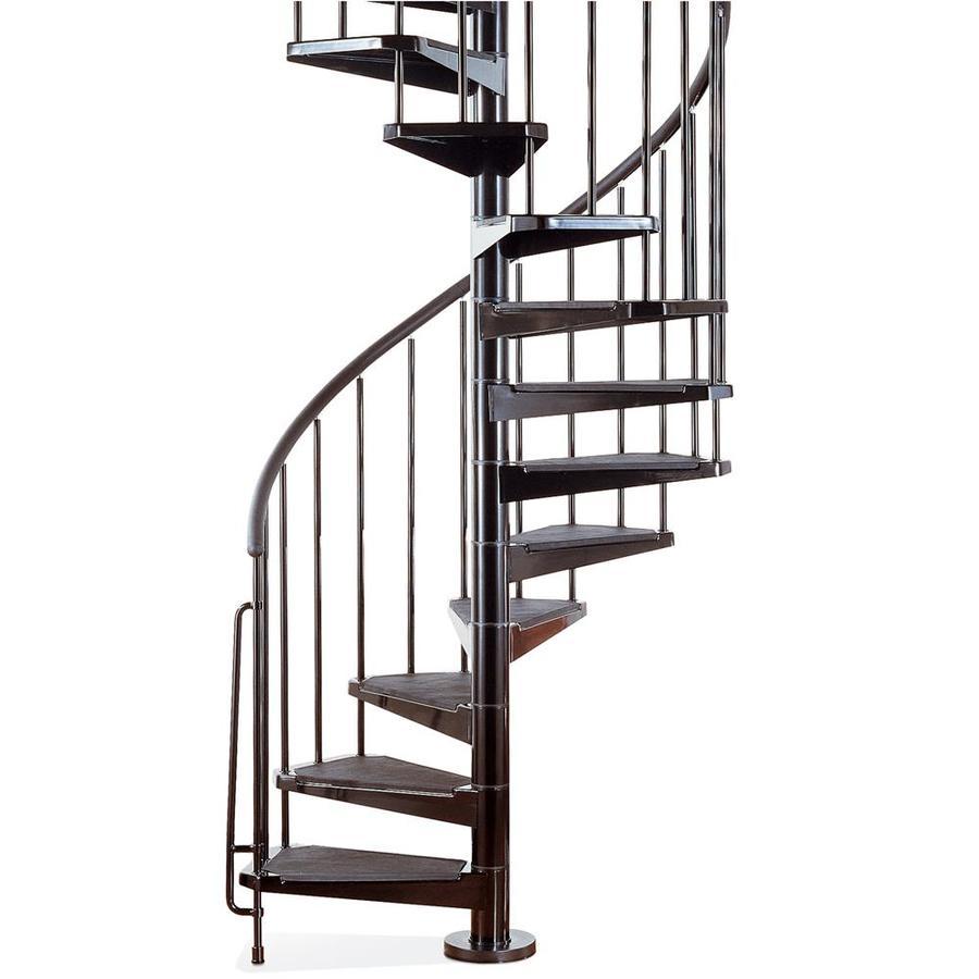 Spiral Staircase Lowes: Shop Arke 3-ft 11-in Civik Black Powder-Coat Finish