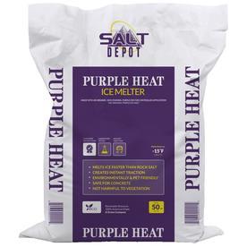 Shop Salt Depot 50 Lb Purple Heat Ice Melt At Lowes Com