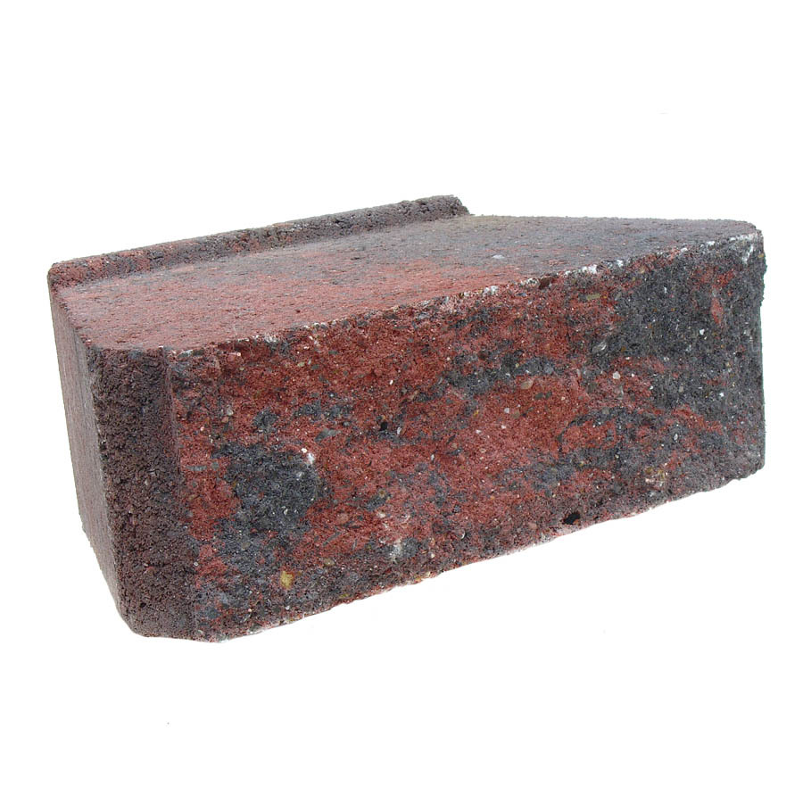 Shop Red Charcoal Basic Retaining Wall Block Common 12