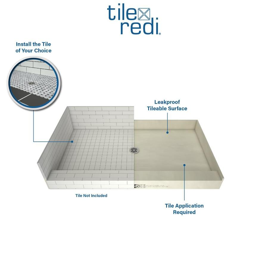 Redi Base Made For Tile Molded Polyurethane Shower Base 34 in W x