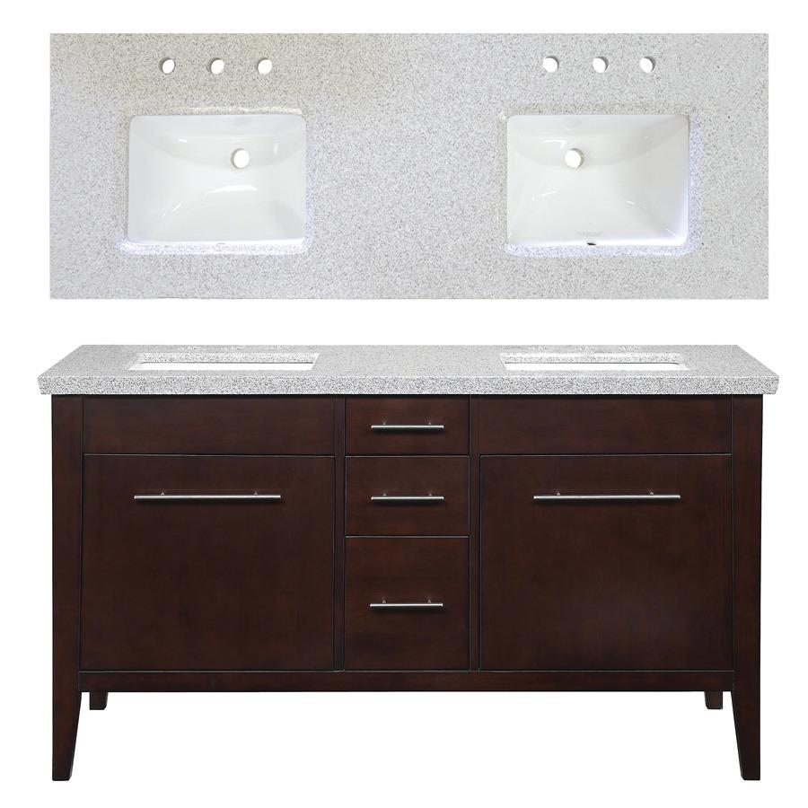 Enlarged image - Espresso double sink bathroom vanity ...