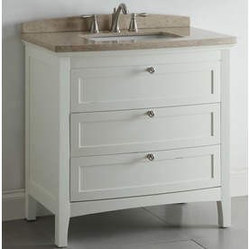 Shop allen + roth Windleton White with Weathered Edges ...