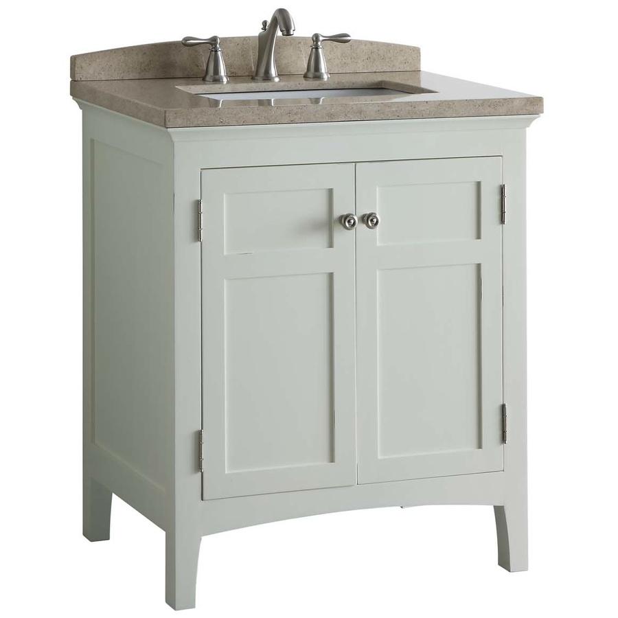 Shop allen + roth Norbury White Undermount Single Sink ...