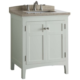 Captivating Display Product Reviews For Norbury White Undermount Single Sink Bathroom  Vanity With Engineered Stone Top (