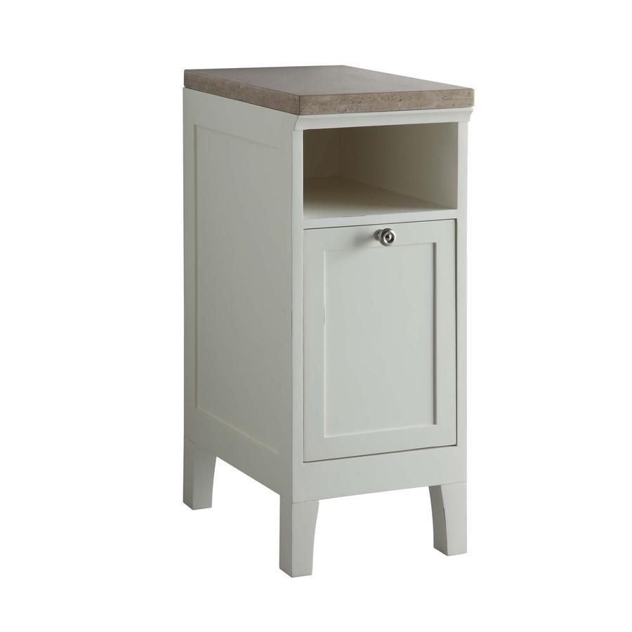 Shop Allen Roth Norbury White Storage Cabinet Common