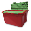Real Organized 12-Gallon Red and Green Plastic Lidded Crate Deals