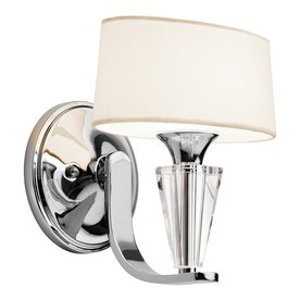 Kichler Crystal Persuasion 8.5-In W 1-Light Chrome Wall S...