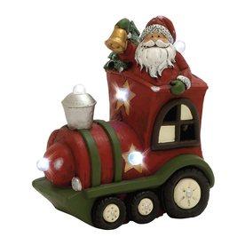 Woodland Imports Lighted Tabletop Figurine Santa Indoor Christmas Decoration 76758