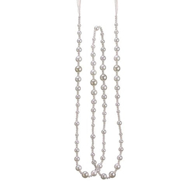 Northlight 6-ft Pearl Beaded Artificial Christmas Garland ATG10979196