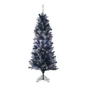 Northlight Allstate Floral and Craft 6-ft Pre-Lit Tinsel Slim Artificial Christmas Tree with White LED Lights ATG10954759