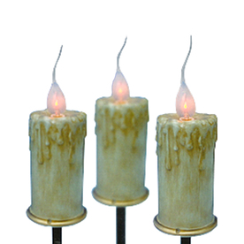 Northlight Sienna 3-Marker Orange Incandescent Electrical Outlet Powered Candles Christmas Pathway Markers ATG10979667