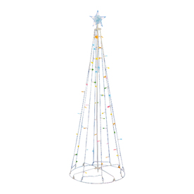 Northlight Sienna Lighted Freestanding Tree Outdoor Christmas Decoration with Multicolor LED Lights ATG10955378