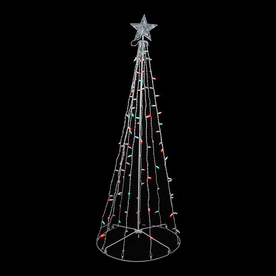 Northlight Sienna Lighted Freestanding Tree Outdoor Christmas Decoration with Multicolor Twinkling LED Lights ATG10955385