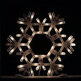 Northlight Sienna Lighted Snowflake Hanging Outdoor Christmas Decoration with White Twinkling Incandescent Lights ATG10980332