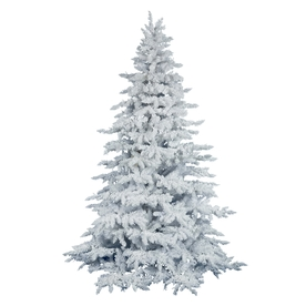 Vickerman 9-ft 2,346-Tip Unlit White Spruce Flocked Artificial Christmas Tree A893680