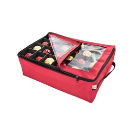 TreeKeeper 20-in W x 6-in H Red Polyester Ornament Storage Bag SB-10188-RS