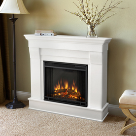 Display Product Reviews For 40 9 In W White Led Electric Fireplace