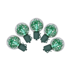 Northlight 25-Count Constant Green G40 LED Plug-in Indoor/Outdoor Christmas String Lights ATG12092217