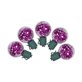 Northlight 25-Count Pink G40 LED Christmas String Lights ATG12092220